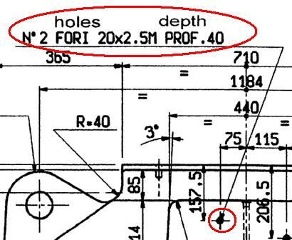 意大利图纸上的螺纹孔标注,有些不明白